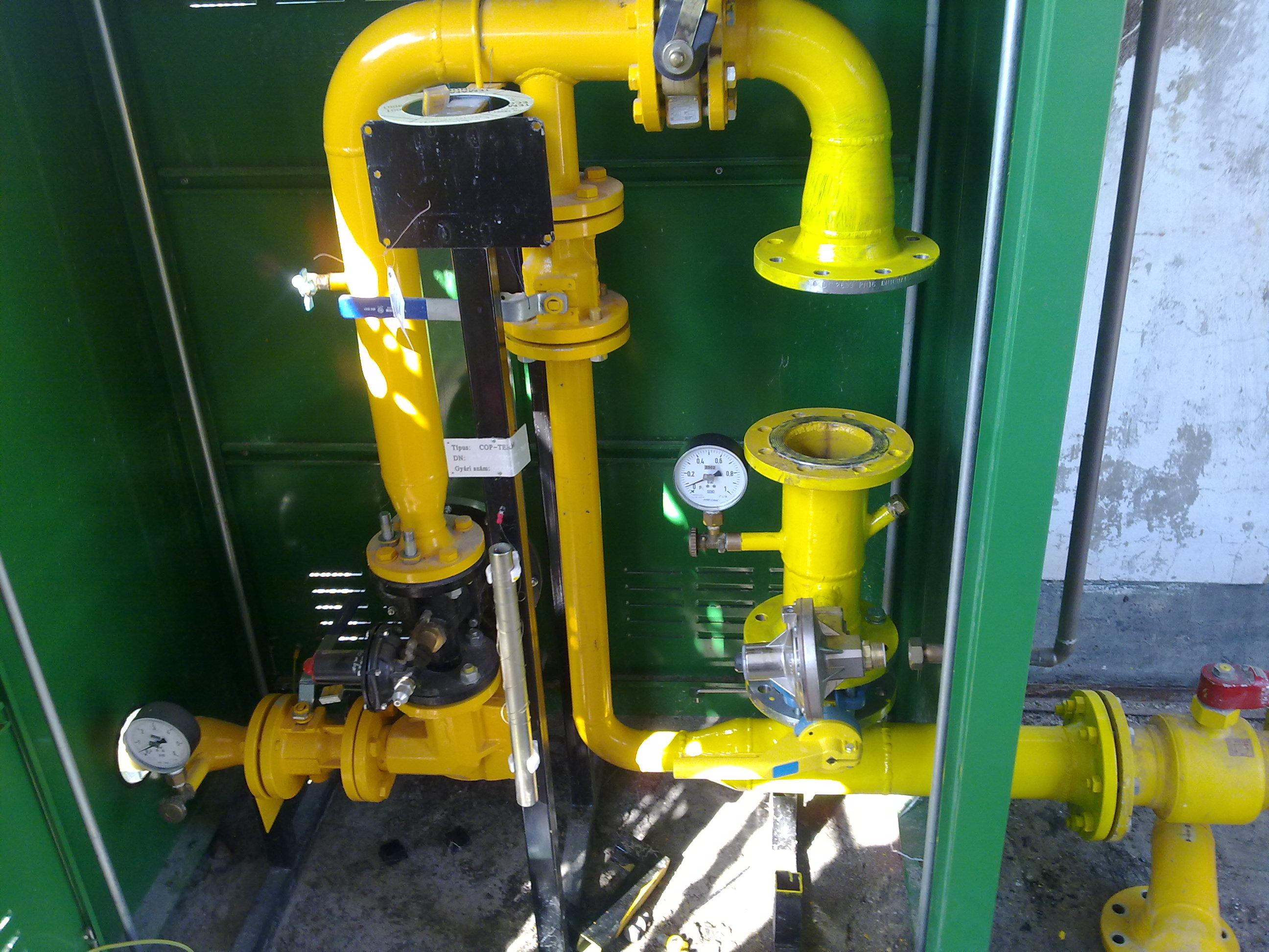 Ozora gabonaszárító gázszerelése